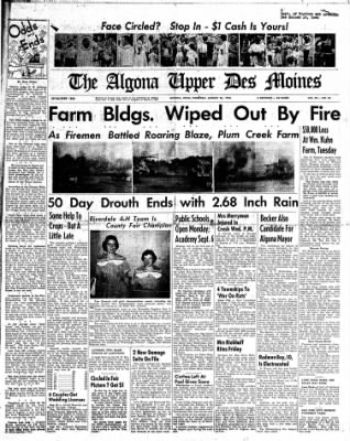 The Algona Upper Des Moines from Algona, Iowa on August 25, 1955 · Page 1