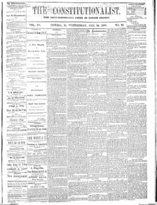 The Elyria Democrat from Elyria, Ohio on January 19, 1870 · Page 1
