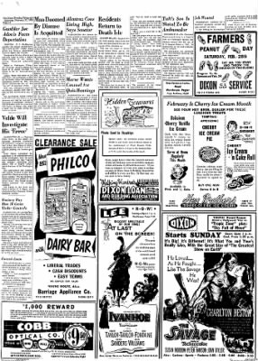 Dixon Evening Telegraph from Dixon, Illinois on February 21, 1953 · Page 10
