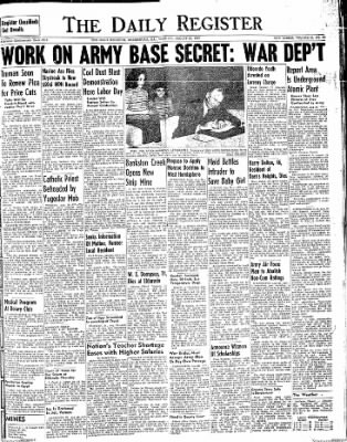 The Daily Register from Harrisburg, Illinois on August 26, 1947 · Page 1