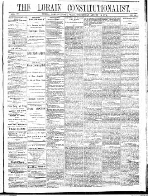 The Elyria Democrat from Elyria, Ohio on August 10, 1870 · Page 1
