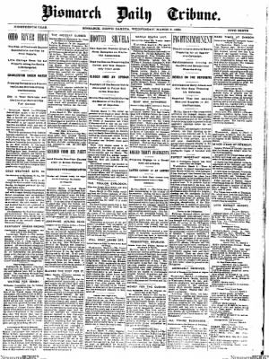 The Bismarck Tribune from Bismarck, North Dakota on March 8, 1899 · Page 1