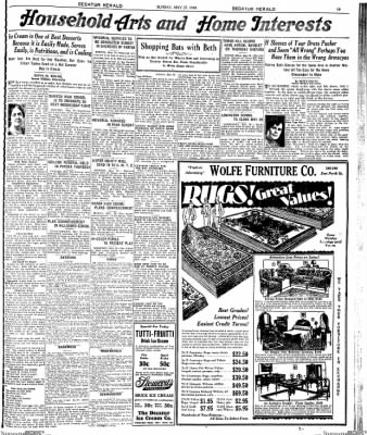 Decatur Evening Herald from Decatur, Illinois on May 27, 1928 · Page 19