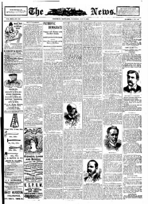 The News from Frederick, Maryland on July 5, 1900 · Page 1