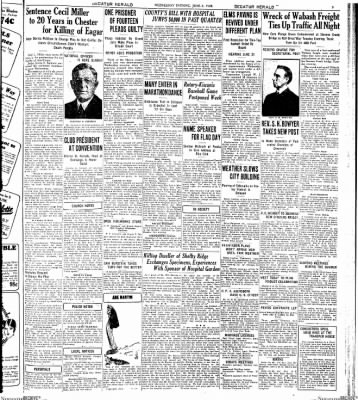 Decatur Evening Herald from Decatur, Illinois on June 6, 1928 · Page 3