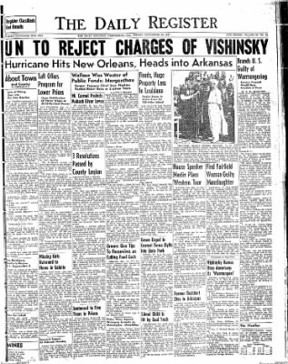 The Daily Register from Harrisburg, Illinois on September 19, 1947 · Page 1