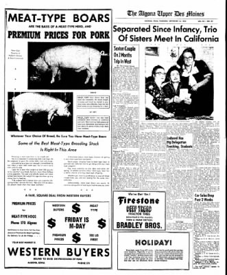 The Algona Upper Des Moines from Algona, Iowa on September 15, 1955 · Page 17