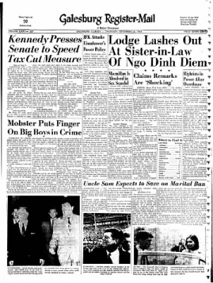 Galesburg Register-Mail from Galesburg, Illinois on September 26, 1963 · Page 1