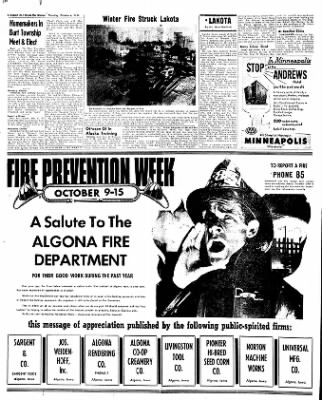 The Algona Upper Des Moines from Algona, Iowa on October 6, 1955 · Page 50