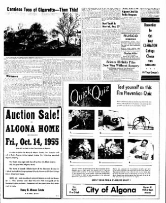 The Algona Upper Des Moines from Algona, Iowa on October 6, 1955 · Page 53