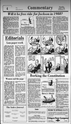 The Index-Journal from Greenwood, South Carolina on August 11, 1987 · Page 4