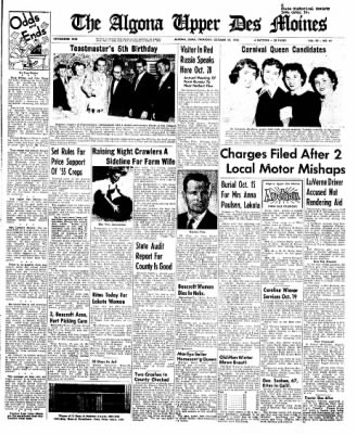 The Algona Upper Des Moines from Algona, Iowa on October 20, 1955 · Page 29