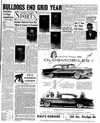 The Algona Upper Des Moines from Algona, Iowa on November 3, 1955 · Page 15