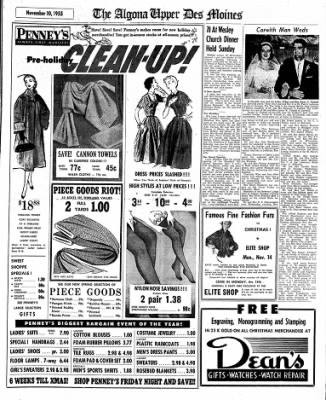 The Algona Upper Des Moines from Algona, Iowa on November 10, 1955 · Page 17