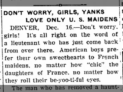 "Clip of the Day: ""Don't Worry, Girls, Yanks Love Only U.S. Maidens"""