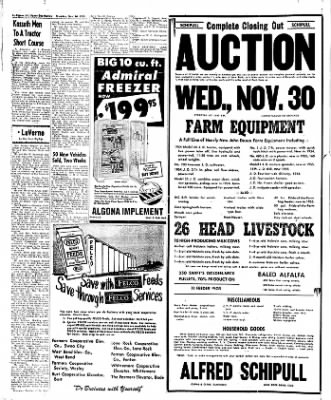 The Algona Upper Des Moines from Algona, Iowa on November 24, 1955 · Page 40