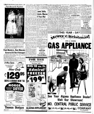The Algona Upper Des Moines from Algona, Iowa on December 1, 1955 · Page 46