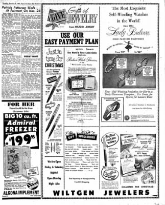 The Algona Upper Des Moines from Algona, Iowa on December 8, 1955 · Page 25