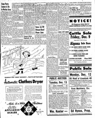 The Algona Upper Des Moines from Algona, Iowa on December 8, 1955 · Page 27