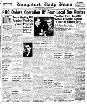 Naugatuck Daily News from Naugatuck, Connecticut on February 1, 1947 · Page 1