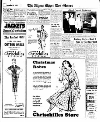 The Algona Upper Des Moines from Algona, Iowa on December 15, 1955 · Page 9