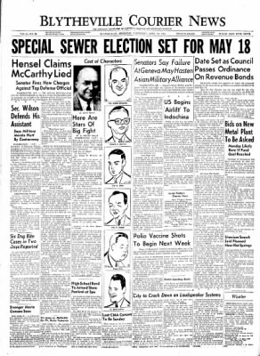 The Courier News from Blytheville, Arkansas on April 21, 1954 · Page 1