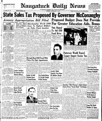 Naugatuck Daily News from Naugatuck, Connecticut on February 4, 1947 · Page 1