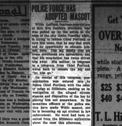 Journal Gazette (Mattoon, Illinois) 25 Oct 1923 page 8, column 7