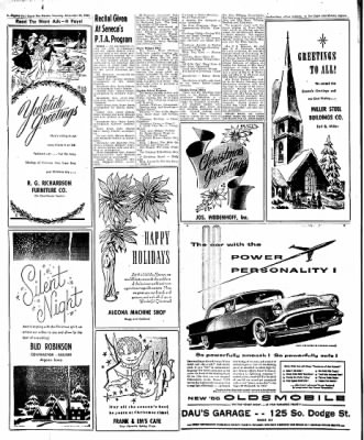 The Algona Upper Des Moines from Algona, Iowa on December 22, 1955 · Page 58