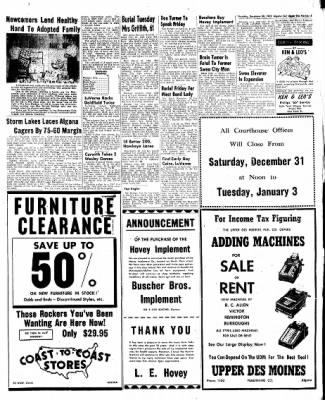 The Algona Upper Des Moines from Algona, Iowa on December 29, 1955 · Page 21