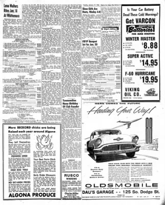 The Algona Upper Des Moines from Algona, Iowa on January 17, 1956 · Page 9