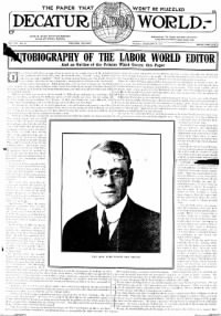 Sample Decatur Labor World front page