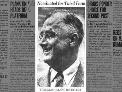 Clip of the Day: Democratic Convention Nominates Franklin D Roosevelt for Historic 3rd Presidential Run