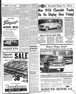 The Algona Upper Des Moines from Algona, Iowa on January 24, 1956 · Page 17