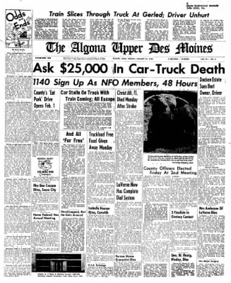 The Algona Upper Des Moines from Algona, Iowa on January 24, 1956 · Page 19