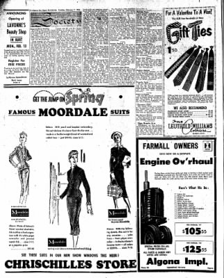 The Algona Upper Des Moines from Algona, Iowa on February 7, 1956 · Page 8