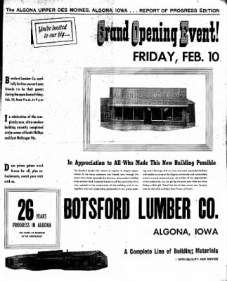 The Algona Upper Des Moines from Algona, Iowa on February 7, 1956 · Page 15