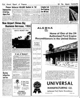 The Algona Upper Des Moines from Algona, Iowa on February 7, 1956 · Page 52
