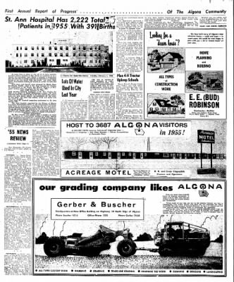 The Algona Upper Des Moines from Algona, Iowa on February 7, 1956 · Page 56