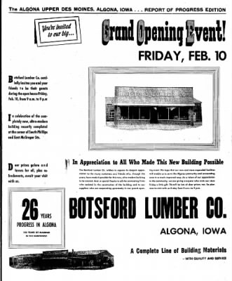 The Algona Upper Des Moines from Algona, Iowa on February 7, 1956 · Page 59