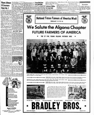 The Algona Upper Des Moines from Algona, Iowa on February 14, 1956 · Page 9