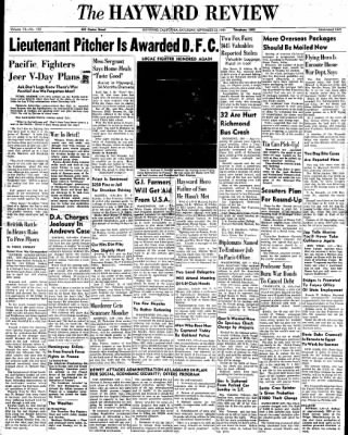 Daily Review from Hayward, California on September 23, 1944 · Page 1