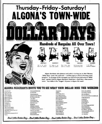 The Algona Upper Des Moines from Algona, Iowa on February 14, 1956 · Page 44