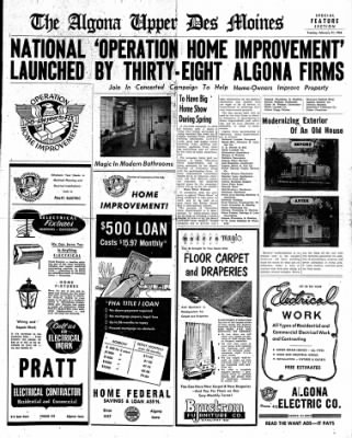 The Algona Upper Des Moines from Algona, Iowa on February 21, 1956 · Page 19