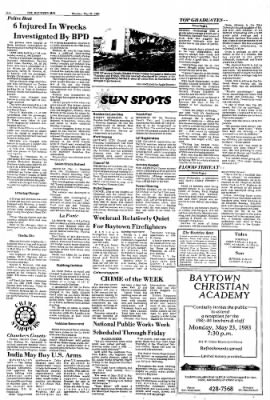 The Baytown Sun from Baytown, Texas on May 23, 1983 · Page 2