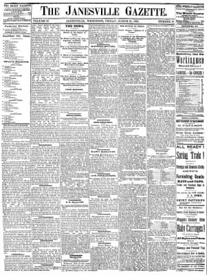 Janesville Daily Gazette from Janesville, Wisconsin on March 29, 1878 · Page 1
