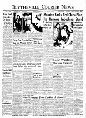 The Courier News from Blytheville, Arkansas on April 29, 1954 · Page 1