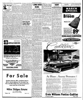 The Algona Upper Des Moines from Algona, Iowa on March 6, 1956 · Page 46