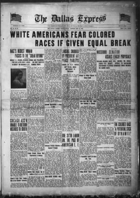 The Dallas Express from Dallas, Texas on May 31, 1919 · Page 1