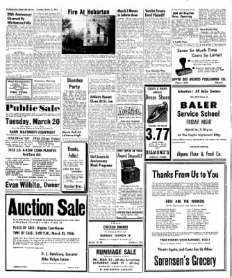The Algona Upper Des Moines from Algona, Iowa on March 13, 1956 · Page 45